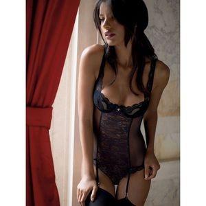 2 for $15 💕 Victoria's Secret Black Lace Teddy